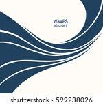 water wave logo abstract design.... | Shutterstock .eps vector #599238026