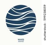 water wave logo abstract design.... | Shutterstock .eps vector #599238059