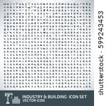 industry and building icon set... | Shutterstock .eps vector #599243453