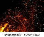 flame of fire with sparks on a