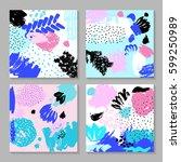 set of creative card template...   Shutterstock .eps vector #599250989