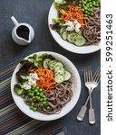 soba noodles buddha bowl....
