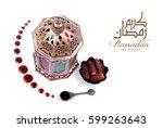 ramadan kareem . dates and... | Shutterstock . vector #599263643