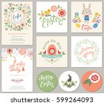 happy easter templates with... | Shutterstock .eps vector #599264093