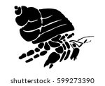 graphic hermit crab  vector | Shutterstock .eps vector #599273390