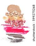 set of crashed face powder ...   Shutterstock . vector #599275268