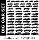 silhouette car set | Shutterstock .eps vector #599280104