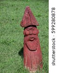 Wooden Statue In The Shape Of ...