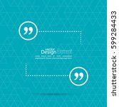 vector speech bubble with... | Shutterstock .eps vector #599284433