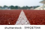 Small photo of Running track for the athletes background, Athlete Track or Running Track