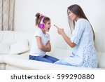mother will raise a daughter of ... | Shutterstock . vector #599290880