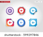 colored icon or button of left...   Shutterstock .eps vector #599297846