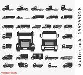 truck icons   Shutterstock .eps vector #599299058