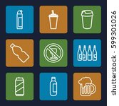 beer icons set. set of 9 beer... | Shutterstock .eps vector #599301026