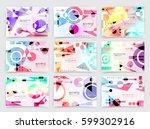 business brochure design ... | Shutterstock .eps vector #599302916