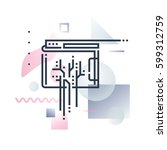 abstract illustration concept... | Shutterstock .eps vector #599312759