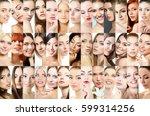 set of beautiful women's studio ...   Shutterstock . vector #599314256