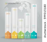 business infographics design... | Shutterstock .eps vector #599315180