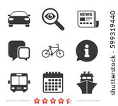 transport icons. car  bicycle ... | Shutterstock .eps vector #599319440