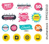 sale shopping banners. special... | Shutterstock .eps vector #599323010