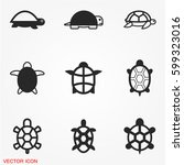 turtle icons   Shutterstock .eps vector #599323016