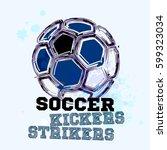 vector grunge soccer ball   t...   Shutterstock .eps vector #599323034