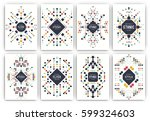 set of geometric abstract... | Shutterstock .eps vector #599324603
