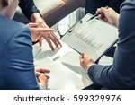 businessmen meeting  business... | Shutterstock . vector #599329976