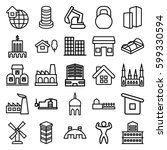 building icons set. set of 25...   Shutterstock .eps vector #599330594