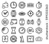 clock icons set. set of 25... | Shutterstock .eps vector #599333363