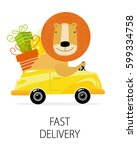 "poster ""fast delivery"". lion by ... 