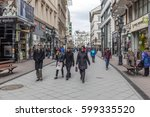 budapest  hungary   march 12 ... | Shutterstock . vector #599335520