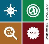 microbe icons set. set of 4...   Shutterstock .eps vector #599338370