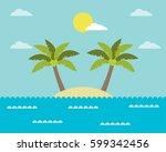 summer background  vector...   Shutterstock .eps vector #599342456