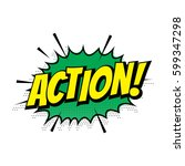sale action comic text speech... | Shutterstock .eps vector #599347298