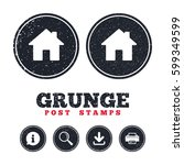 grunge post stamps. home sign...