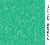 spring green seamless vector... | Shutterstock .eps vector #599349728