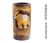 earthenware beautiful color on... | Shutterstock . vector #599350856