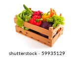 wooden crate with a diversity... | Shutterstock . vector #59935129