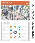 isometric innovative smart city ... | Shutterstock .eps vector #599360270