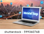 laptop showing technology for... | Shutterstock . vector #599360768