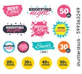 sale shopping banners. special... | Shutterstock .eps vector #599363249
