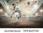 baseball players in action on...   Shutterstock . vector #599363744