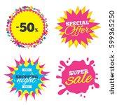 sale splash banner  special... | Shutterstock .eps vector #599365250