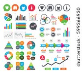 business charts. growth graph.... | Shutterstock .eps vector #599366930