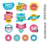 sale banners  online web... | Shutterstock .eps vector #599370026