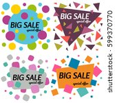 set of big sale special offer... | Shutterstock .eps vector #599370770