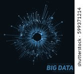 vector abstract round big data... | Shutterstock .eps vector #599371214