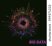 vector abstract round big data... | Shutterstock .eps vector #599371223