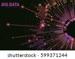 vector abstract round big data... | Shutterstock .eps vector #599371244